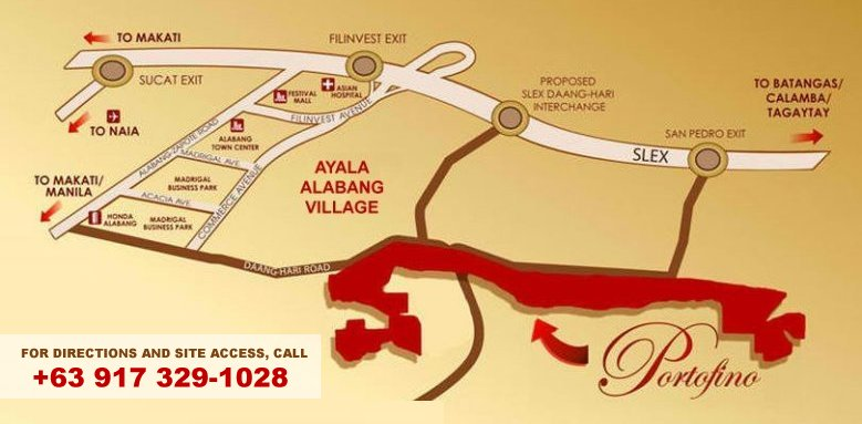House for Sale in Alabang - Portofino Village Map