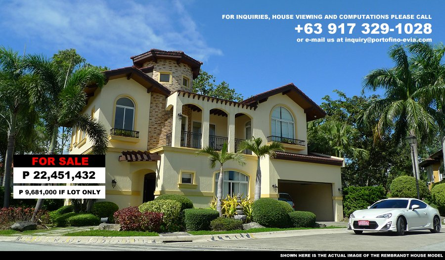 Rembrandt House Model, House and Lot for Sale in Alabang Philippines